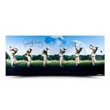 RORY MCILROY AUTOGRAPHED ART OF THE SWING PANORAMIC PICTURE