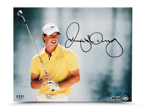 RORY MCILROY AUTOGRAPHED 'WATERFRONT' 8X10 PHOTO