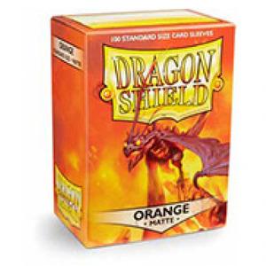 龙盾 橙色磨砂牌套 100张盒装 11013