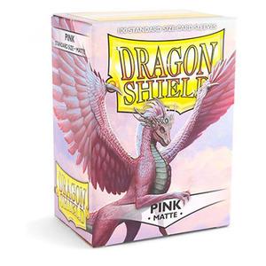 龙盾 粉色磨砂牌套 100张盒装 11012