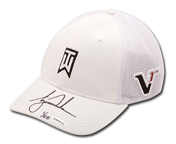 AUTOGRAPHED TIGER WOODS 2012 NIKE WHITE VICTORY HAT
