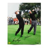 """GARY PLAYER AUTOGRAPHED """"DUAL WITH JACK"""" PHOTO"""