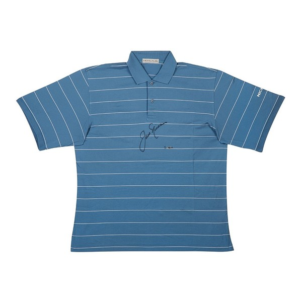 JACK NICKLAUS TOURNAMENT-WORN POLO BLUE