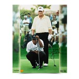 "JACK NICKLAUS & TIGER WOODS AUTOGRAPHED ""MATCH PLAY"" 16 X 20"