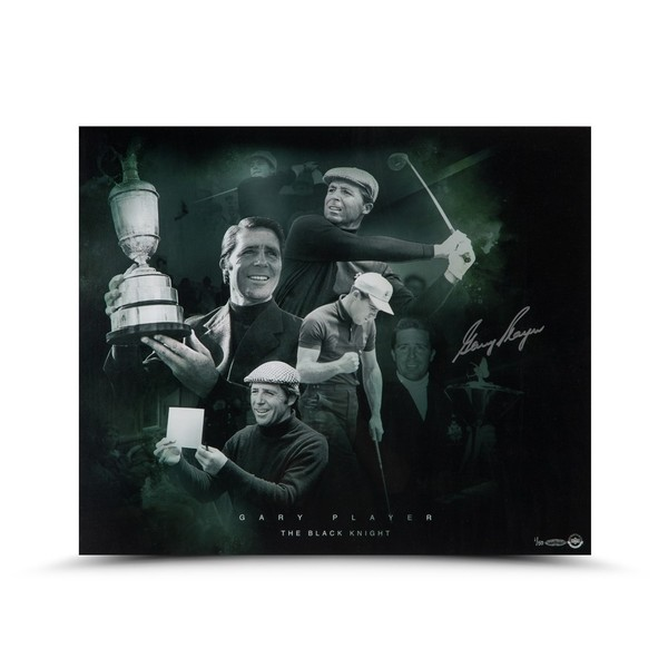GARY PLAYER AUTOGRAPHED BLACK KNIGHT PHOTO