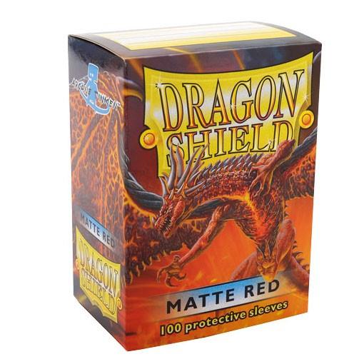 龙盾 红色磨砂牌套 100张盒装 11007