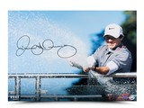 RORY MCILROY AUTOGRAPHED SPRAY OF VICTORY PHOTO