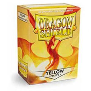 龙盾 黄色磨砂牌套 100张盒装 11014