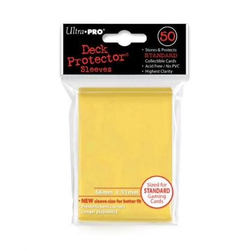 Ultra·Pro 纯色磨砂牌套 黄色 50张 尺寸66mmx91mm #82675